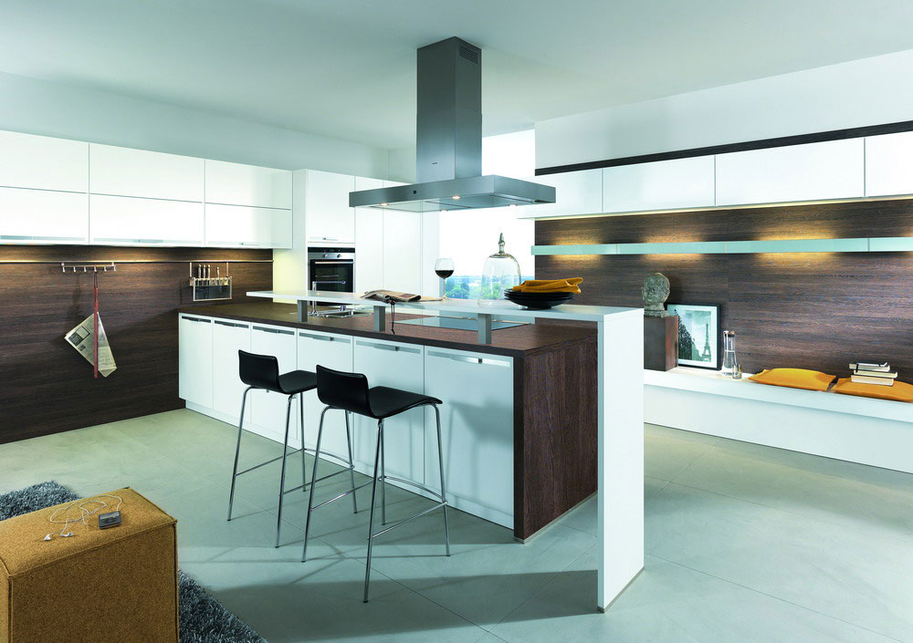 Cuisine blanc bois 8 photo de cuisine moderne design contemporaine luxe for Cuisine en bois blanc