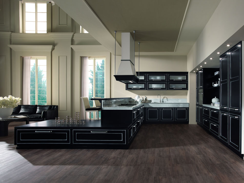 cuisine campagnarde rustique 73 photo de cuisine moderne design contemporaine luxe. Black Bedroom Furniture Sets. Home Design Ideas