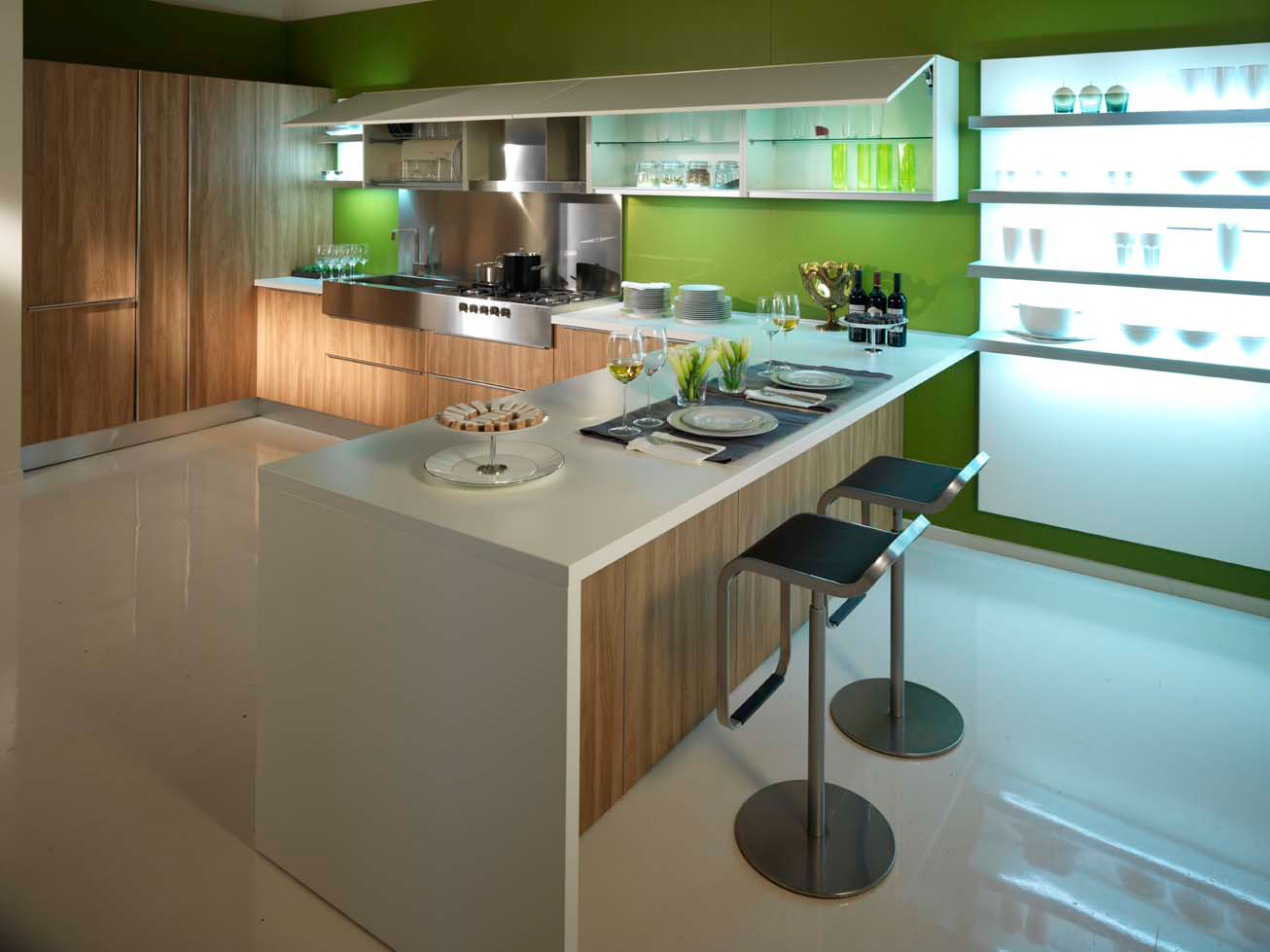 Cuisine en melamine 16 photo de cuisine moderne design for Cuisines contemporaines design