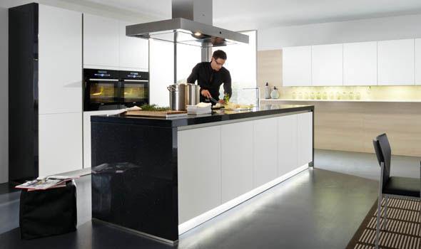 Cuisine sans poignees 21 photo de cuisine moderne design contemporaine luxe - Table cuisine contemporaine design ...